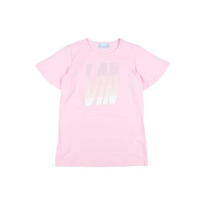 ランバン LANVIN T シャツ ピンク 4 コットン 94% / ポリウレタン 6% T シャツ