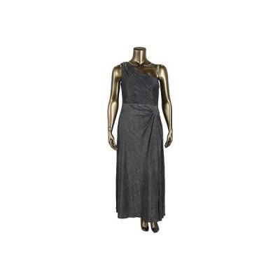 アレックスイブニングス ドレス ワンピース Alex Evenings 3025 レディース シルバー メタリック Formal ドレス Gown Petites 14P BHFO