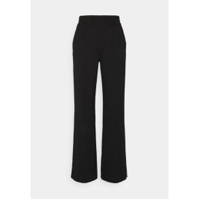 オンリー レディース カジュアルパンツ ボトムス ONLPOPTRASH SUKI LIFE WIDE PANT - Trousers - black black