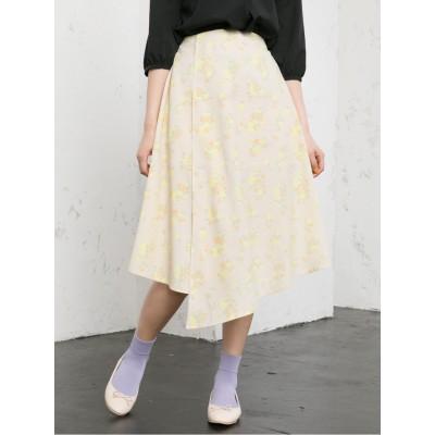 花柄アシメスカート