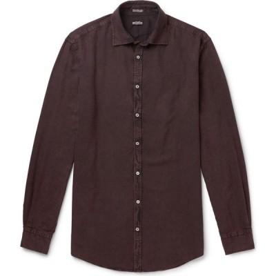 マッシモ アルバ MASSIMO ALBA メンズ シャツ トップス patterned shirt Deep purple