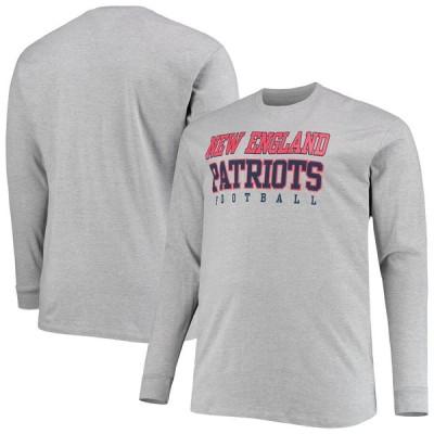 ニューイングランド・ペイトリオッツ Fanatics Branded Big & Tall Practice Long Sleeve T-シャツ - Heathered Gray