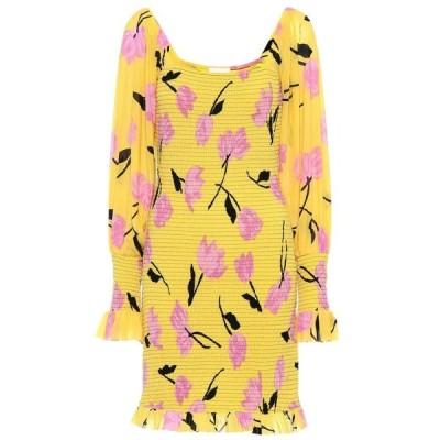 ガニー Ganni レディース ワンピース ワンピース・ドレス floral georgette minidress Minion Yellow