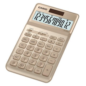【CASIO】12位元璀璨晶耀桌上型計算機-尊爵金 (JW-200SC-GD)