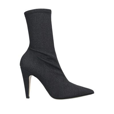 GIAMPAOLO VIOZZI ショートブーツ ブラック 40 紡績繊維 ショートブーツ