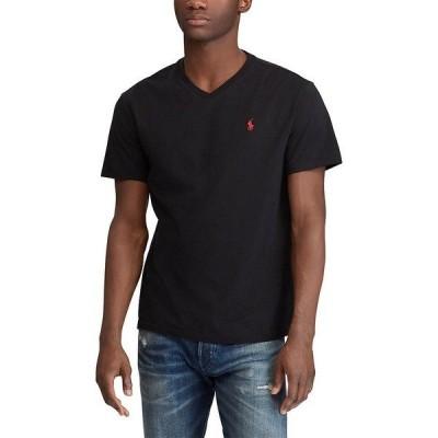 ラルフローレン メンズ Tシャツ トップス Classic-Fit Short-Sleeve V-Neck Tee RL Black