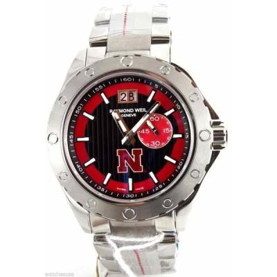 レイモンドウイル 腕時計 Raymond Weil Sport Letter N logo メンズ Black and Red Dial Watch 8300-ST-20041