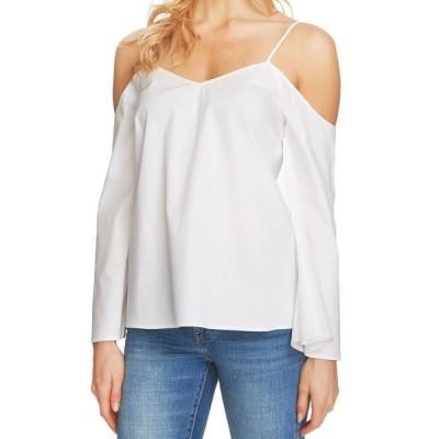 レディース 衣類 トップス 1. State NEW White Womens Size Medium M Cold-Shoulder Bell-Sleeve Blouse ブラウス&シャツ