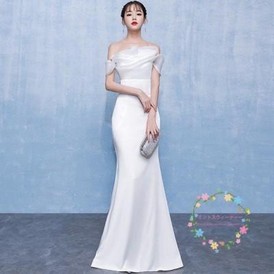 ウエディングドレス マーメイドラインドレス 白 二次会 レース 安い エレガンス 花嫁 結婚式 ロングドレス ブライダル 大きいサイズ 披露宴  wedding dress