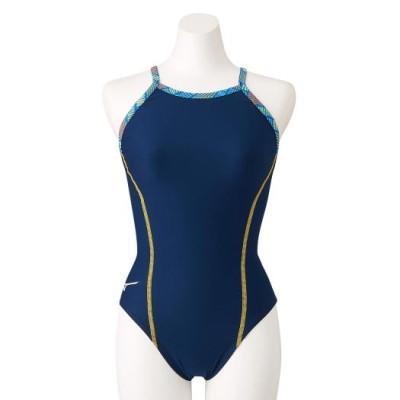 ミズノ 競泳練習用ミディアムカット[ジュニア] 14ネイビー 140 スイム 競泳水着 エクサースーツ(練習用水着) N2MA1980