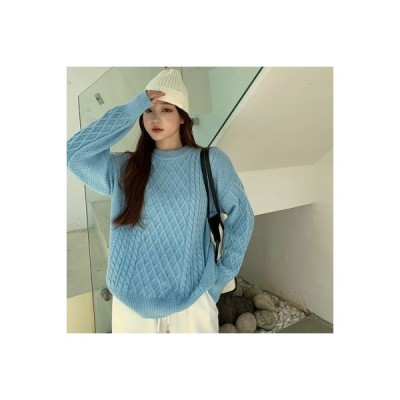 【送料無料】ルース ヘッジ ツイスト 紋 セーターの女性 秋冬 シンプル 何でも似合 | 364331_A63939-0275667