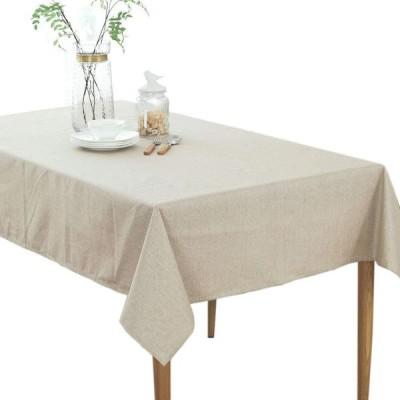 テーブルクロス 撥水加工 無地 テーブルカバー 北欧風 手入れ簡単 長方形 (ベージュ