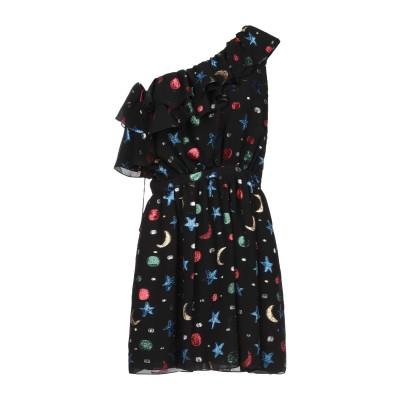 SAINT LAURENT ミニワンピース&ドレス ブラック 38 シルク 93% / 金属化ポリエステル 7% ミニワンピース&ドレス