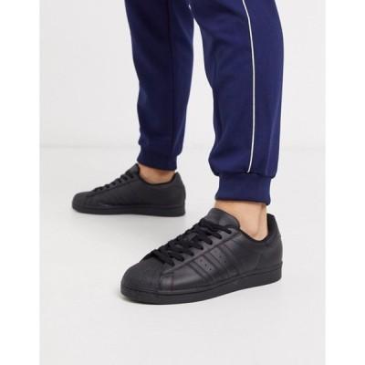 アディダス メンズ スニーカー シューズ adidas Originals New Superstar sneakers in triple black