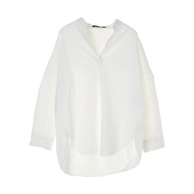 スキッパー綿ブロードBIGシャツ