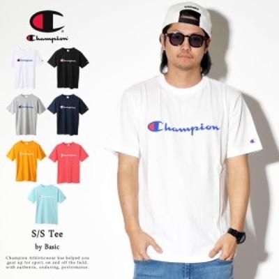 (メール便送料無料)チャンピオン Champion Tシャツ メンズ 半袖 ベーシック Tシャツ スクリプトロゴ (C3-P302)