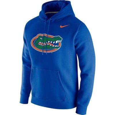 ナイキ メンズ パーカー・スウェット アウター Nike Men's Florida Gators Blue Club Fleece Pullover Hoodie