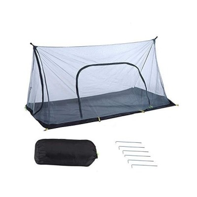 蚊帳(かや)Eletorot 超軽量携帯式テント 蚊除け網 キャンプ/アウトドア用 モスキートネット (ポールは別売)