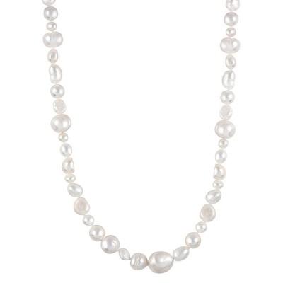 スプレンデッドパールズ ネックレス・チョーカー・ペンダントトップ アクセサリー レディース Splendid Pearls 6-9mm Freshwater Pearl 36in Necklace -