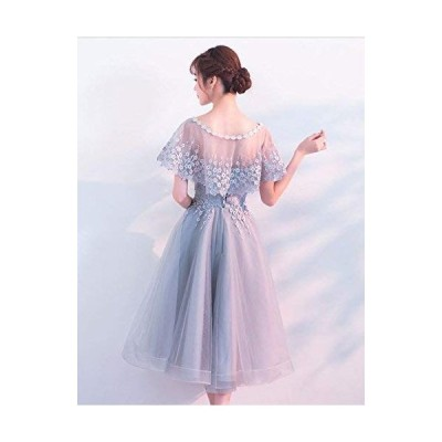 hanamaya ミモレ丈 ドレス 袖あり 二次会 結婚式 パーティードレス ウエディングドレス 結婚式 二次会 パーティー イベント 演奏