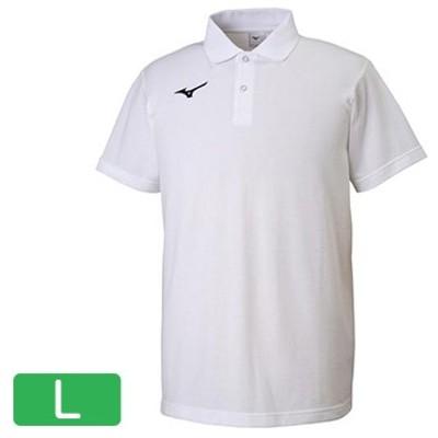■ポロシャツ ホワイト×ネイビー【ユニセックス】 サイズ:L 32MA919574L