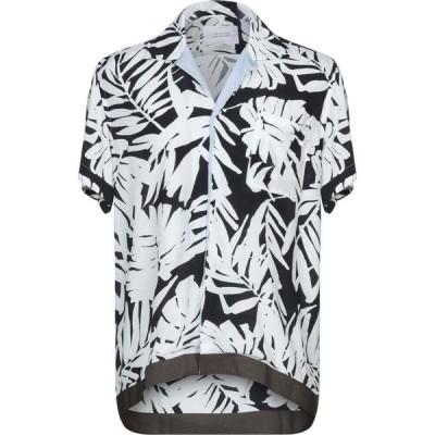 ロウブランド LOW BRAND メンズ シャツ トップス patterned shirt White