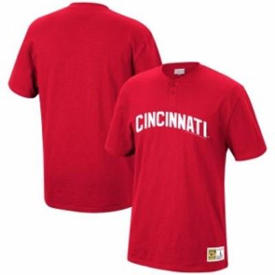 Mitchell & Ness ミッチェル アンド ネス スポーツ用品  Mitchell & Ness Cincinnati Reds Red Two-Button Slub Henley T-Shirt
