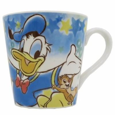 ◆ドナルドダック陶器製 マグ/ハピネス(ディズニーマグカップ おしゃれ コップ マグ 食器、ドナルドダック(339)
