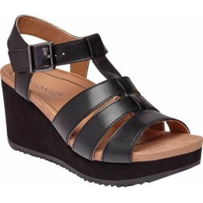 バイオニック レディース サンダル シューズ Tawny II Strappy Sandal Black Leather