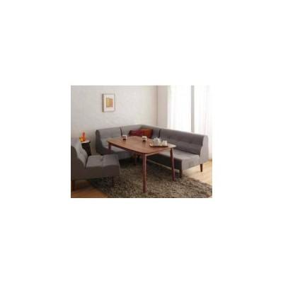 ダイニングテーブルセット 5人用 コーナーソファー L字 l型 椅子 北欧 カウチ 5点 (机+2Px1+1Px2+コーナー1) 幅120 デザイナーズ スタイリッシュ 高さ調節 昇降