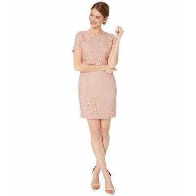 ラルフローレン ワンピース トップス レディース Petite Lace Popover Dress Pink Macaron