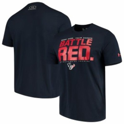Under Armour アンダー アーマー スポーツ用品  Under Armour Houston Texans Navy Combine Authentic Team Verb Performance T-Shirt