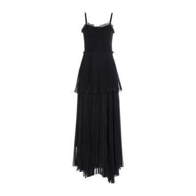 ANNA RACHELE BLACK LABEL ロングワンピース&ドレス ブラック 40 ポリエステル 100% / ポリウレタン ロングワンピー