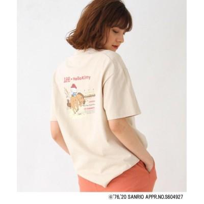 【グローブ】 Lee(R)×Kitty バックプリントTシャツ レディース ベージュ 02(M) grove