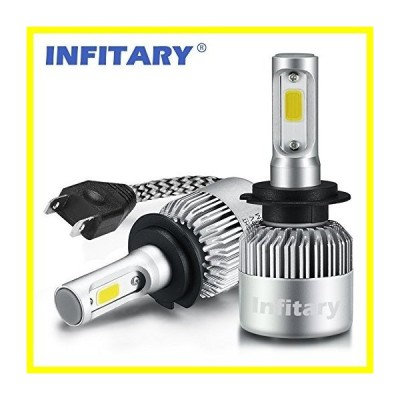 送料無料 Infitary LED ヘッドライト Bulbs Conversion Kits Single Beam Auto Headlamp Car ヘッドライト 72W 6500K 8000LM Super Bright COB
