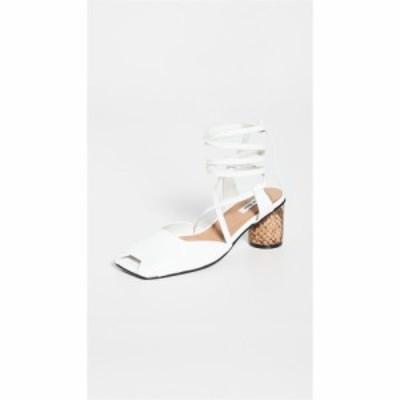 レイクネン Reike Nen レディース サンダル・ミュール シューズ・靴 Open Toe Strap Sandals White