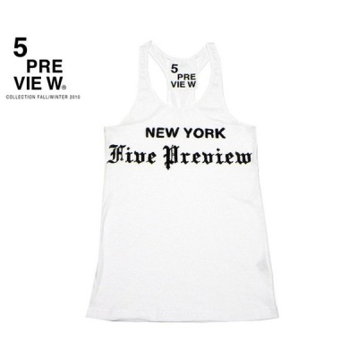 5PREVIEW (ファイブプレビュー) TRIBUNE TANKTOP (WHITE) タンクトップ カットソー ホワイト レディース