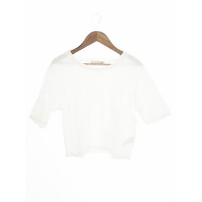 【中古】マウジー moussy Tシャツ カットソー 半袖 1 白 ホワイト /AAO43 レディース