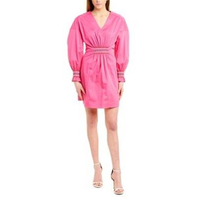 デレクラムテンクロスバイ レディース ワンピース トップス Derek Lam 10 Crosby Katerina A-Line Dress vibrant pink