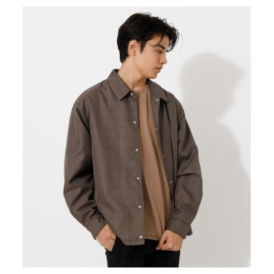 (AZUL by moussy/アズールバイマウジー)LOOSE COACH JACKET/メンズ 柄BRN5