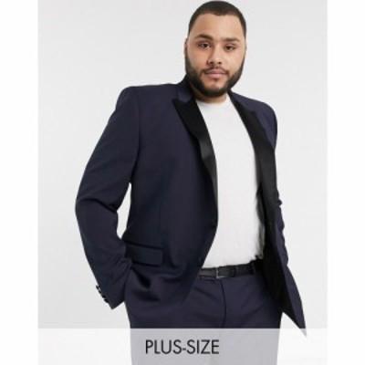 エイソス ASOS DESIGN メンズ スーツ・ジャケット タキシード アウター Plus skinny tuxedo suit jacket in navy ネイビー