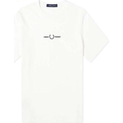 フレッドペリー Fred Perry Authentic メンズ Tシャツ トップス embroidered tee Snow White