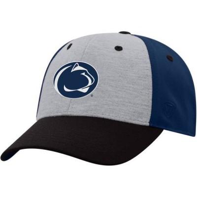 トップオブザワールド メンズ 帽子 アクセサリー Top of the World Men's Penn State Nittany Lions Grey/Blue/Black Bring It 1Fit Flex Hat