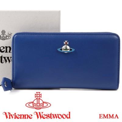 ヴィヴィアンウエストウッド 財布 ヴィヴィアン Vivienne Westwood ラウンドファスナー長財布 レディース メンズ ブルー 51050023 EMMA BLUE
