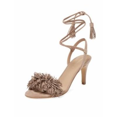 メイデンレーン レディース シューズ サンダル Fringed Leather Ankle-Wrap Sandal