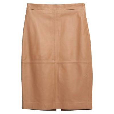 フェデリカ・トシ FEDERICA TOSI ひざ丈スカート キャメル 38 革 100% ひざ丈スカート