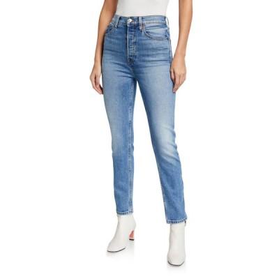 リダン レディース デニムパンツ ボトムス Ultra High-Rise Ankle Crop Skinny Jeans