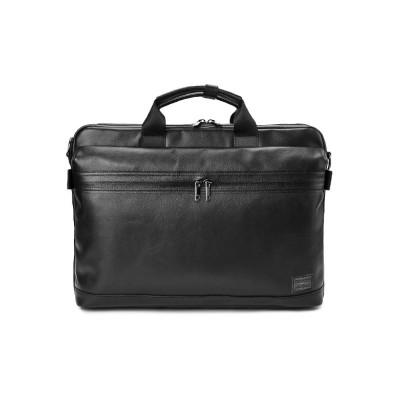 (PORTER/ポーター)吉田カバン ポーター ガード ビジネスバッグ メンズ 本革 薄型 A4 PORTER 033-05056/ユニセックス ブラック
