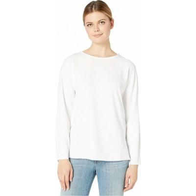 ニックゾー NIC+ZOE レディース Tシャツ トップス Easy One Top Paper White