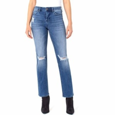 リバプール Liverpool レディース ジーンズ・デニム ボトムス・パンツ Sadie Straight Jeans with Destruct in Tellico Tellico